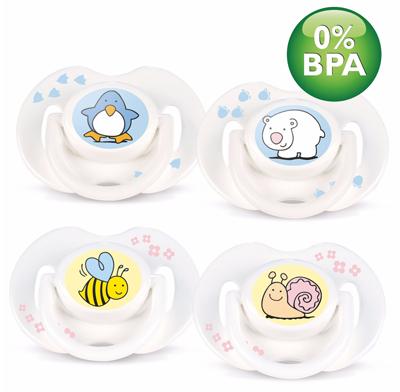 Avent Philips Пустышка силиконовая Животный мир 0-6 мес. BPA-Free (2 ш