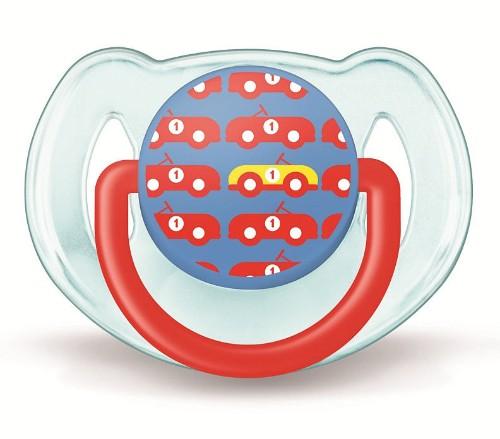 Avent Philips Пустышка силиконовая Дизайн для мальчика 6-18 мес. (1 шт